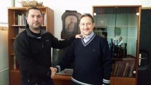 На посещение при Любчо Георгиевски председател на ВМРО Народна партия