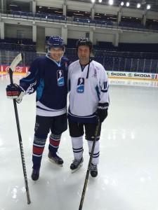Благотворителен мач в Москва с Директора на Газпром г-н Медведев и Министъра на спорта на Русия Витали Мутко.