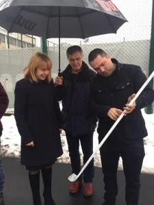 """За втора поредна година с кмета на София г-жа Фандъкова открихме сезона на ледената пързалка в парк """"Възраждане""""."""